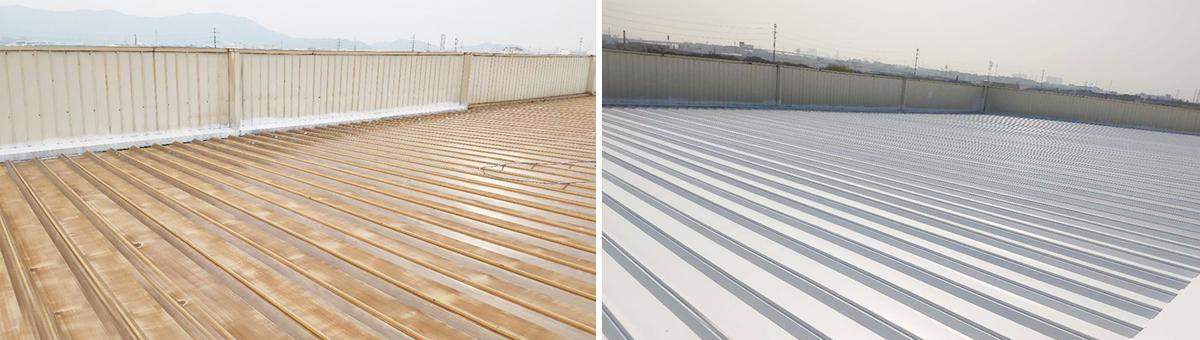 贝原合金苏州钢结构屋面改造-防锈水性涂料喷涂