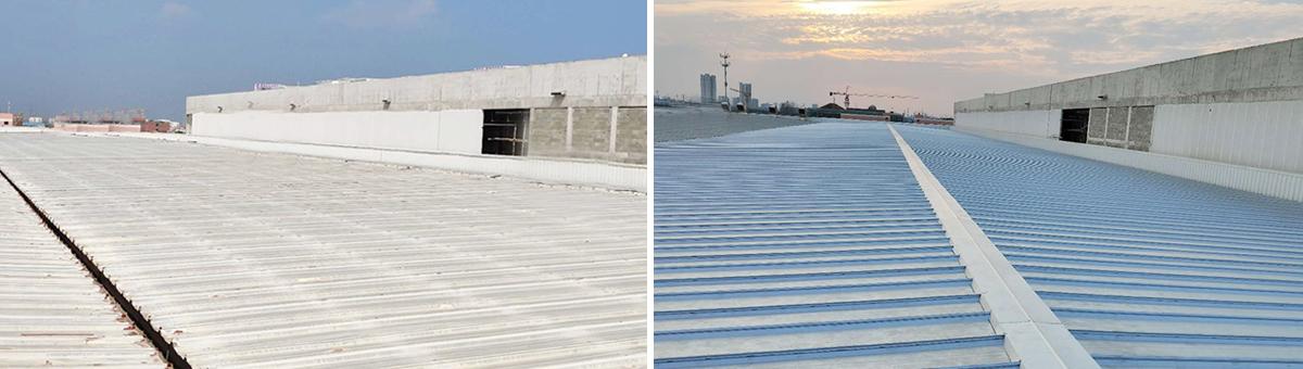 牧野机床(日资)钢结构屋面改造-更换宝钢镀铝锌板