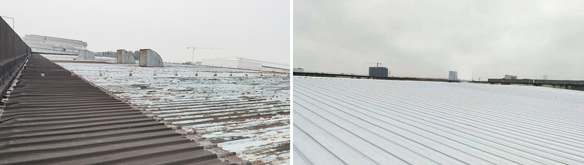 富士胶片(日企)钢结构屋面改造-屋面更换隔热覆膜板