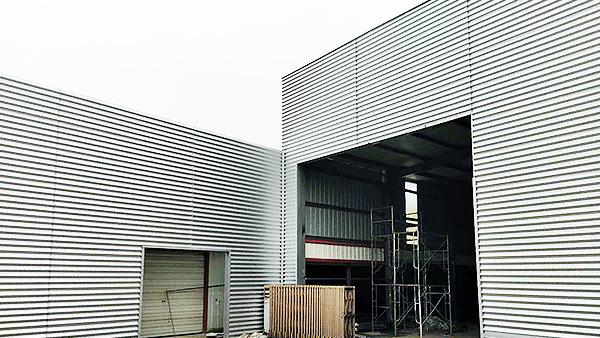 钢结构墙面改造