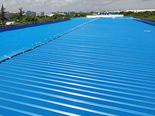 益而益电器宝钢板屋面改造