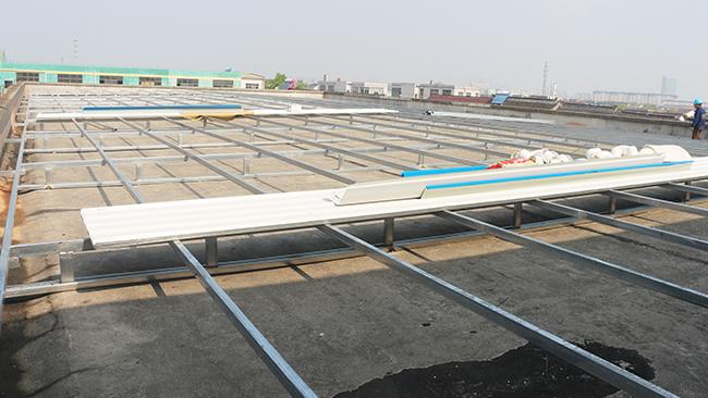 苏州市科容包装有限公司混凝土屋面改造