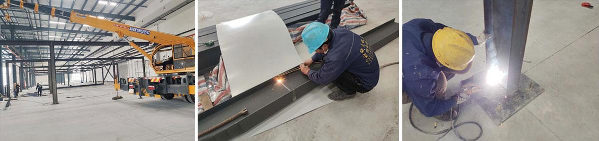 钢结构花纹板平台施工现场