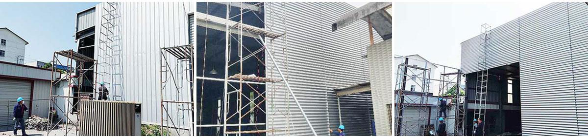 钢结构墙面改造施工图